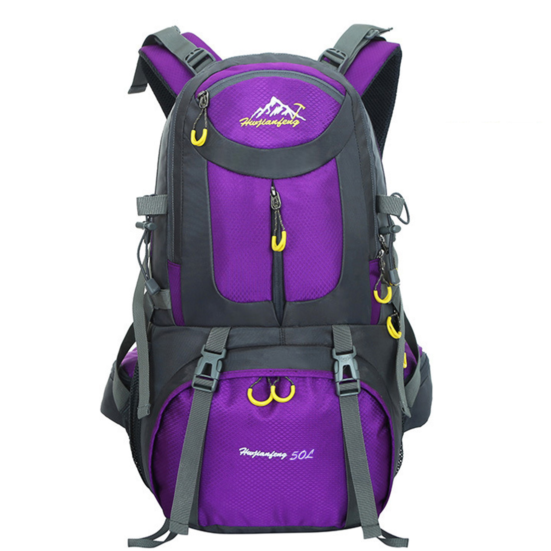 50L Nylon Fabric New Hiking Camping Climbing Backpack Super Waterproof Tearing Resistance Sport Backpack for Man Women<br><br>Aliexpress