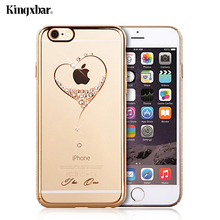 KINGXBAR for iPhone 6s Case 6 s Shell Swarovski Crystal Diamond Plated Plastic Case for iPhone 6 Cover Phone Capa Coque Funda
