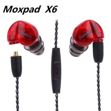 Ship in 24 Hours Moxpad X6 Headset Stereo In-Ear wired Earphone 3.5m Studio Music with Mic for phone Sport Running Free shipping