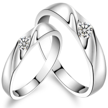 Valentines Gift /Sterling silver lover rings/ Gift box packing/ sterling silver