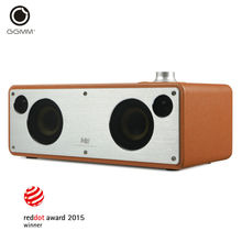 GGMM M3 Retro WiFi Bluetooth Stereo Wireless Leather Speaker DLNA Airplay Subwoofer HiFi Computer PC Speakers MP3 Music Spotify