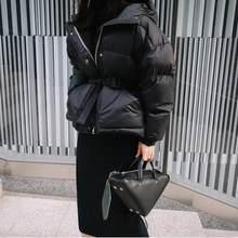 9e3a870f0af2 Corée style mode lâche épaissir parkas manteaux femme hiver au chaud  nouveau ceintures de vestes 2018