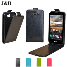 Leather Case For LG K100DS K3 K100 LS450 Flip Cover Cases For LG K3 LTE Dual Sim K100DS 4.5 inch Vertical J&R Phone Bags & Cases