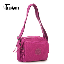 TEGAOTE Small Shoulder Bags Female Solid Zipper Luxury Women Designer Flap Mini Nylon Summer Beach Crossbody Bag Sac A Main 2017