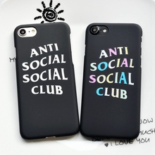 Fashion Anti Social Club Hard Frosted Case For iPhone 6 6s plus 7 8 Plus Phone Cover For iphone X 5s SE 6 6s Coque Funda Case