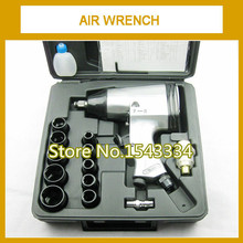High quality 1/2 inch 33KG Single hammer air Impact Wrench Pneumatic wrench kit with sockets and other accessories
