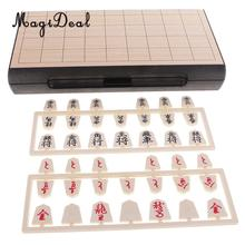 MagiDeal Top Quality 1Pc Magnetic Folding Shogi Set 24x24cm Boxed Japanese Chess Game Portable for Funny Family Party Kids Gift(China)