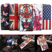 VONKY For Elephone S7 Mini Painted Flip Cover PU Leather Sticky Case Up Down Phone Case Wallet Cover for Elephone S7 Mini