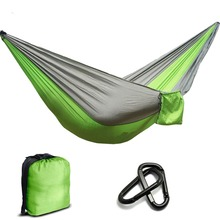 2 People Nylon Parachute Hammock Camping Survival Garden  Hunting Leisure Hamac Travel Double Person Hamak