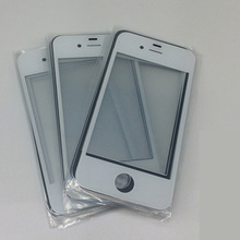 5pcs/lot  High Quality Mobile Phone Front Glass Screen Panel Digitizer For iPhone 4 4s Touch Screen Glass Wholesale
