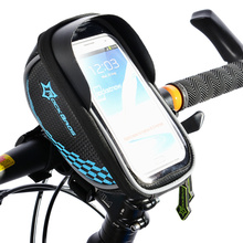 ROCKBROS Riding Bike Frame Front Tube Bag Cycling Bag Pannier Smartphone & GPS Touch Screen Case Bicycle Accessories 5 Colors