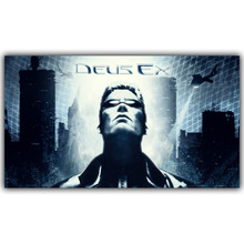 Deus Ex IV V Mankind Divided 2'Size Silk Fabric Canvas Poster Print Video Game Class Home Decor Wallpaper YX728