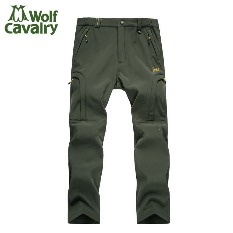 Softshell Breathable Camping Hiking Pants Climbing Pants Outdoor Pants Trousers With Fleece Keep warm Waterproof Combat Trousers<br>