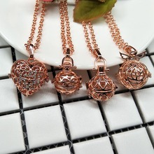Fashion hollow angel/geometry/flower/love shape with long O chain locket necklace perfume jewelry energy choker