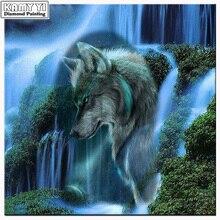 Жуй звезда DIY Вышивка с кристаллами Наборы полный алмазов Вышивка водопад волк рукоделие Алмазная мозаика Домашний Декор(China)