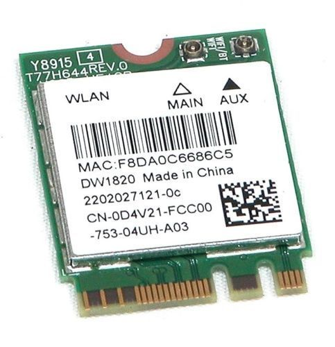 Dell DW1820 Wireless 802.11ac 2.4G//5Ghz WiFi BlueTooth Network Card D4V21 0D4V21