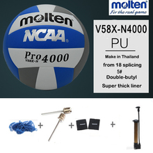 original molten volleyball V58X-N PRO4000 Genuine Molten PU Material Official Size 5 volleyball Free With Net Bag+ Needle