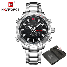 Buy NAVIFORCE Luxury Brand Fashion Sport Wristwatch Waterproof Stainless Male Watches Men's Quartz Analog Watch Relogio Masculino for $22.00 in AliExpress store