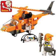 Sluban B0102 City Series Emergency rescue helicopter 3D Construction Plastic Model Building Blocks Bricks Compatible With Legoe