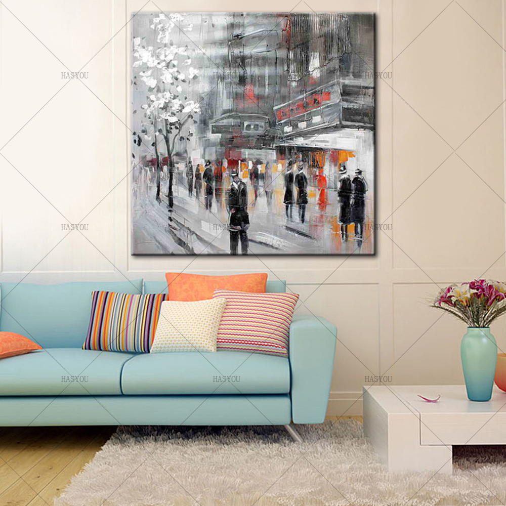 Unframed-Abstract-Modern-Landscape-New-York-City-Street-View-Handmade-Oil-Painting-On-Canvas-Home-Decor (2)