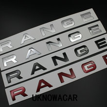 Car Styling Front Hood/Real Car Badge Emblem Sticker Letters Sports Style For Range Rover Accessories Hight Quality(China)