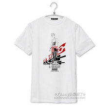 Fashion bigbang gd g-dragon music band cartoon image printing white t shirt for summer men women kpop short sleeve t-shirt S-3XL
