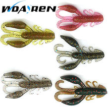 5 pcs/lot soft baits fishing lures soft lure jig wobbler swivel rubber lure fishing worms salt smell soft shrimp bass lure(China)