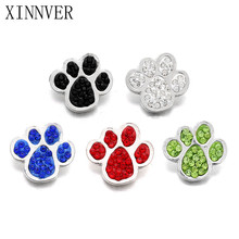 Buy 10pcs/lot Xinnver Snaps Jewelry Crystal Paw Snaps Button Fit 18mm Snap Bracelet Bangle DIY Women Men Jewelry for $4.85 in AliExpress store