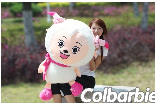 lovely plush goat toy the cartoon sheep large stuffed toy huge beauty goat about 120cm(China (Mainland))
