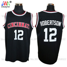 2017 Mens Dwayne Oscar Robertson Jersey Cheap Throwback Basketball Jersey #12 Cincinnati Bearcats College Retro Shirts The Big O(China)