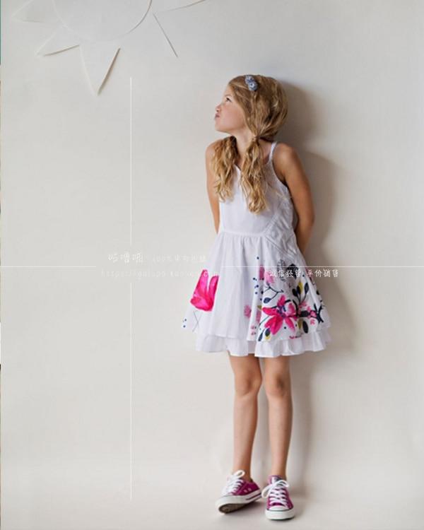 girls dresses summer 2017 baby girl print child sleeveless dress brand brand girls clothing 6-14 year <br>