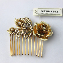 Europe and the United States new Kuan popular accessories wholesale girl beautiful birthday party pattern combs hair hairpin fre