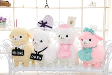 1pcs 45CM Sheep cushion pillow stuffed dolls pink white little sheep toys