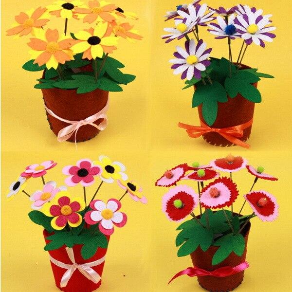 Поделки для горшков с цветами