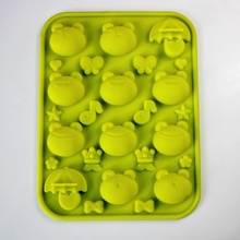 Silicone Frog green bean umbrella Cake Chocolate Soap Pudding Jelly Candy Ice Cookie Biscuit Mold Mould Pan Bakeware Wholesales