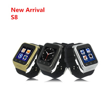 ZGPAX S8 1.54 Inch 450mAh Battery 2G 3G Sim Android 4.4 512MB+4GB Rom smart watch mtk6577 With GPS Bluetooth 2.0 MP Camera(China)