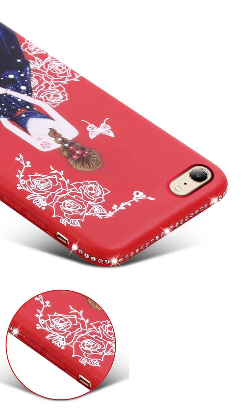dress girl silicone case iphone 6 s 7 8 plus (11)