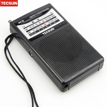 TECSUN R-218 R218 Radio Receiver FM / AM / TV. Mini Pocket portable size Economic battery consume and reliable Built In Speaker(China)