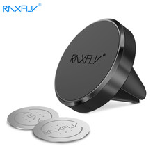 RAXFLY Magnetic Car Phone Holder For iPhone X 8 Samsung Universal Air Vent Car Holder With 2pcs Plates for Huawei P10 Xiaomi(China)