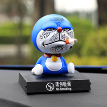 11cm Shaking Head for Doraemon Toy No Smoking Interior Car Decoration Accessories Dolls PVC Car Ornaments Car Styling Christmas(China)
