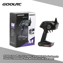 GoolRC Original TG3 2.4GHz 3CH Digital Radio Remote Control Transmitter with Receiver for RC Car Boat(China)