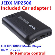 JEDX 2.5 Inch SATA HDD Media Player Internal Car media player Full HD 1080P SD/MMC up to 32GB External USB HDD 2TB+Car adapter!