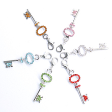 The new 2016 classic romantic mini key lobster clasp pendant jewelry products(China)
