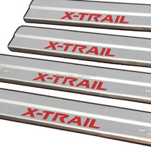 Car Accessory for 2014 2015 2016 Nissan X-Trail X Trail XTral T32 Stainless Steel Scuff Plate Door Sill Welcome Pedal Red/Silver(China)