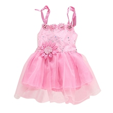 Kids Clothing Sunflower Baby Girls Princess Strap Dress Wedding Party Pageant Tulle Dresses