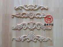 Don't forget Dongyang wood carving wooden flower applique patch wood furniture decoration flower beds solid wood cabinet doors