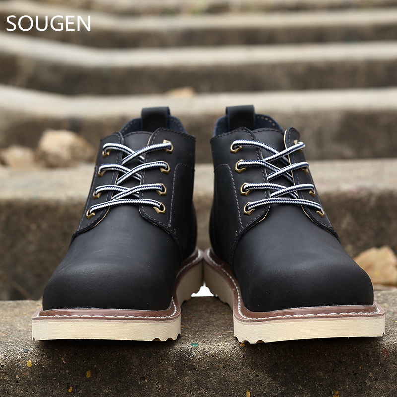 2017 Winter Shoes Mens Boots Casual Timberly Italian Military Waterproof Hunting Chelsea Leather Work Autumn For Men<br><br>Aliexpress