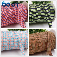 OOOT BAORJCT 1752611,16MM Striped lattice elastic FOE ribbon,10yds DIY handmade Headdress accessories Rubber band decoration