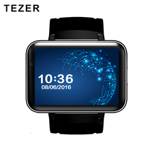 TEZER DM98 new 900mAh Battery 5.1 android wrist smart watch GPS wifi GSM BT video player Sleep Tracker support for Whatsapp(China)