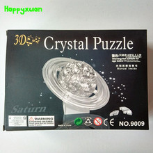 Happyxuan  Educational DIY 3D Jigsaw Crystal Puzzle Saturn Plastic Toys For Children